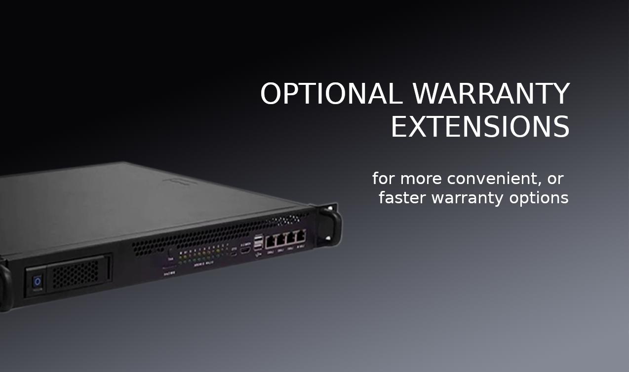 Cluster Server Warranty Extensions